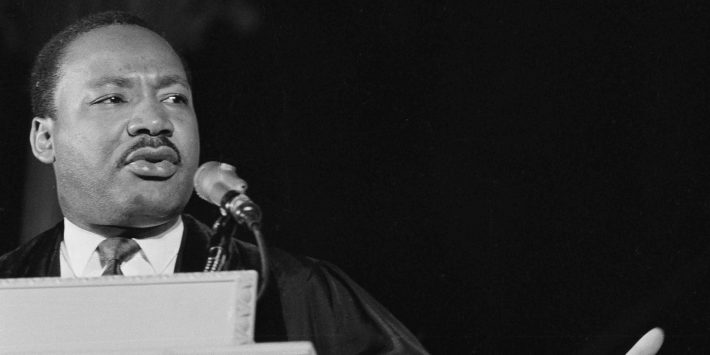 Dr. Martin Luther King, Jr., seen here on March 31, 1968.