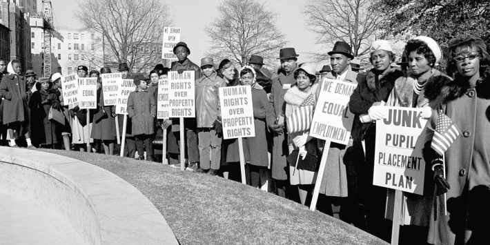 These are some of the signs carried by some 2,500 persons in a rally held in Hurt Park in downtown Atlanta, Georgia, Dec. 16, 1963.