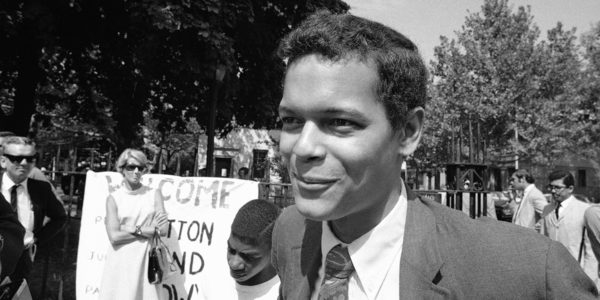 Julian Bond, State Rep.(D) from Georgia, on streets of the Bedford-Stuyvesant section of Brooklyn on September 15,1968.