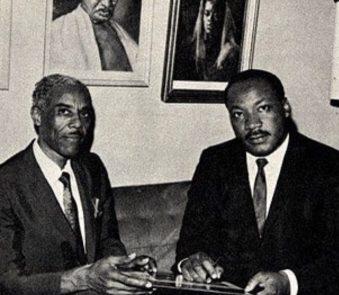 Dr. Nathaniel H.Bronner Sr. with Dr. Martin Luther King Jr.