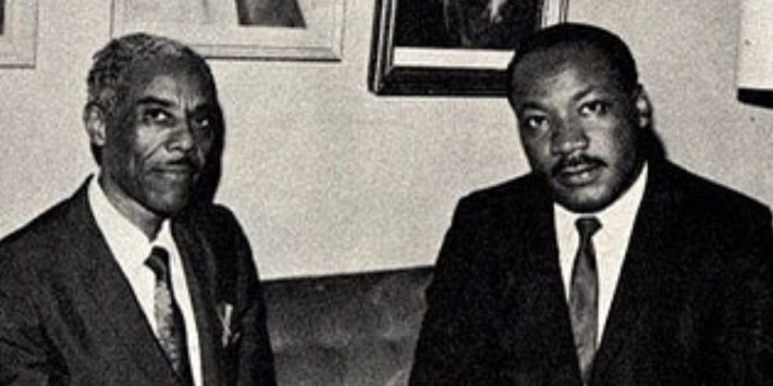 Dr. Nathaniel H. Bronner Sr. with Dr. Martin Luther King Jr.